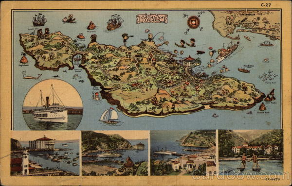 Map of Catalina Island, CA Santa Catalina Island California