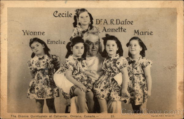 The Dionne Quintuplets Callander Canada Ontario