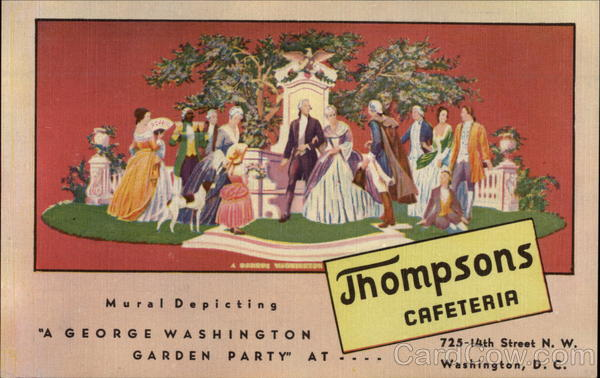 Mural Depicting A George Washington Garden Party at...Thompsons Cafeteria District of Columbia