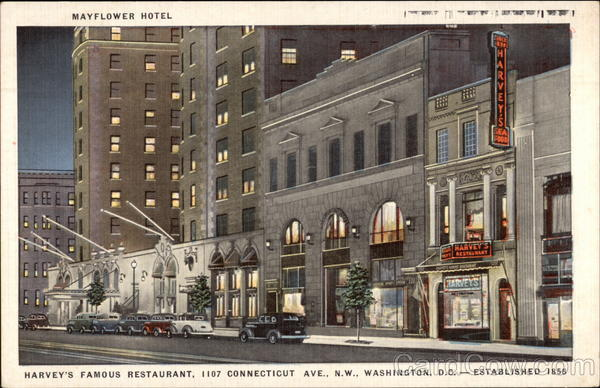 Mayflower Hotel, Harvey's Famous Restaurant Washington District of Columbia