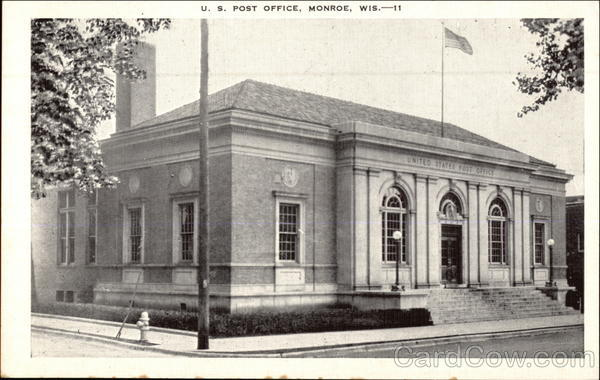 U.S. Post Office Monroe Wisconsin