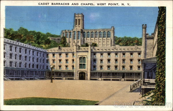 Cadet Barracks and Chapel West Point New York