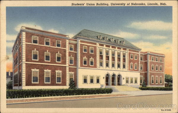 University Of Nebraska Students Union Building Lincoln Ne