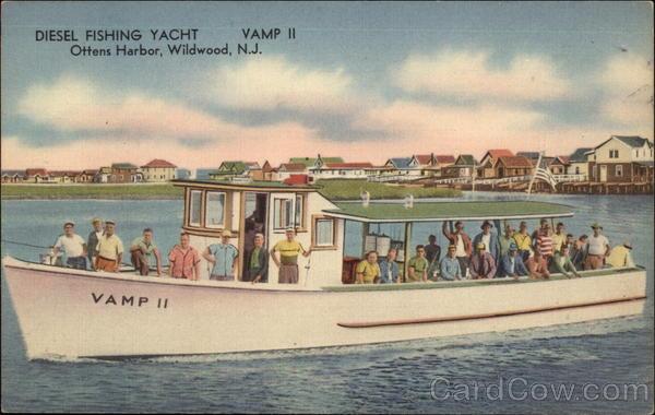 Vamp ii diesel fishing yacht ottens harbor wildwood nj for Fishing wildwood nj