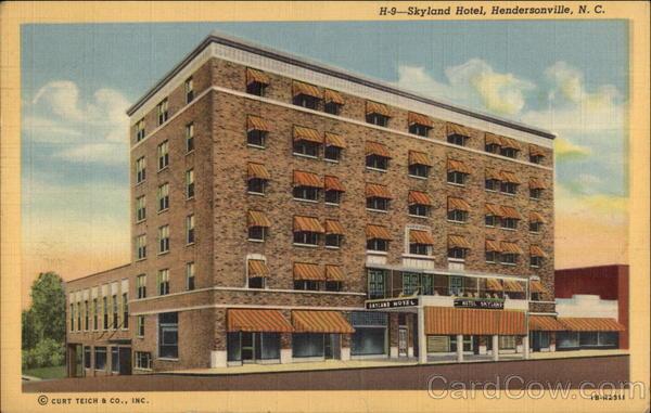 Skyland Hotel Hendersonville, NC Postcard