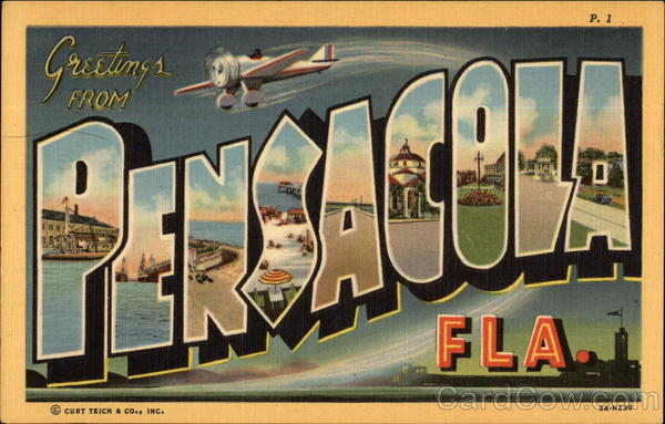 Greetings Pensacola Florida Large Letter