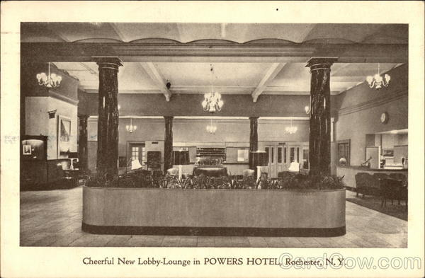 Powers Hotel - Lobby-Lounge Rochester New York