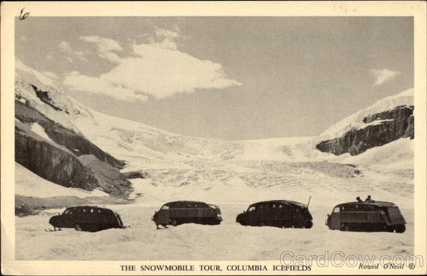 The Snowmobile Tour, Columbia Icefields Canada Alberta
