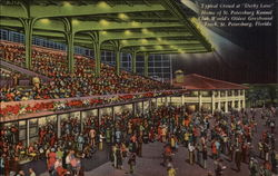 "Typical Crowd at ""Derby Lane,"" World's Oldest Greyhound Track Postcard"
