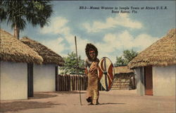 Masai Warrior in Jungle town at Africa U.S.A