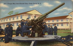 Troops Man Anit-Aircraft Gun, Camp Davis