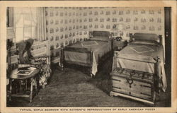 Typical Maple Bedroom with Authentic Reproductions of Early American Pieces