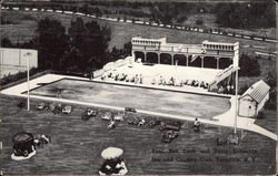 Lakeside Inn and Country Club - Pool, Sun Deck and Patio Postcard