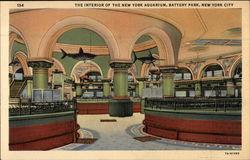 The Interior of the New York Aquarium, Battery Park
