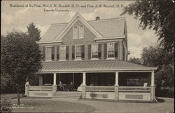 Residence of Ex-Pres. Rev. I.N. Rendall, D.D. and Pres. J.B. Rendall, D.D., Lincoln University