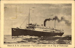 "Ocean S.S. Co. of Savannah - ""Savannah Line"" - S.S. City of Chattanooga"
