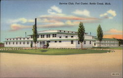 Service Club. Fort Custer