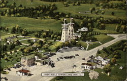 Aerial View of Towers and Inn