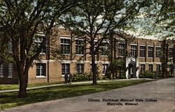 The Library, Northwest Missouri State College Postcard