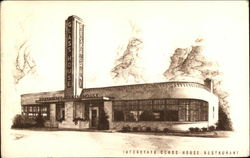 Interstate Glass House Restaurant Postcard