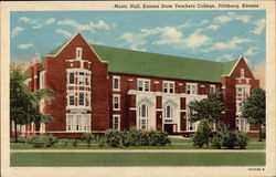 Kansas City Teachers College - Music Hall Postcard