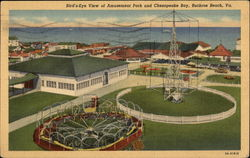 Bird's-Eye View of Amusement Park and Chesapeake Bay