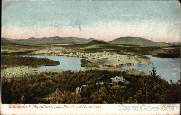 Adirondack Mountains, Lake Placid and Mirror Lake New York