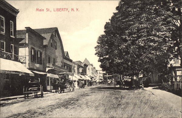 Main Street View Liberty New York