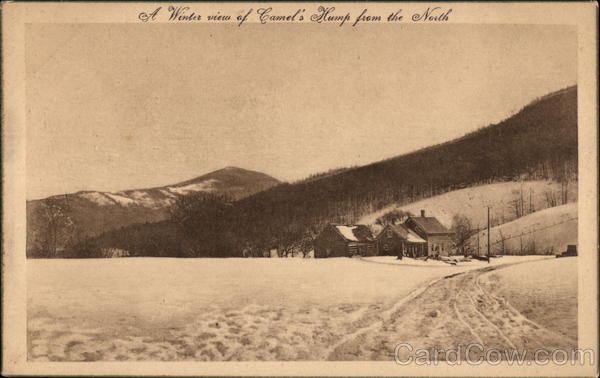A Winter View of Camel's Hump from the North Scenic Vermont
