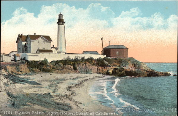 Coastal View of Pigeon Point Lighthouse California