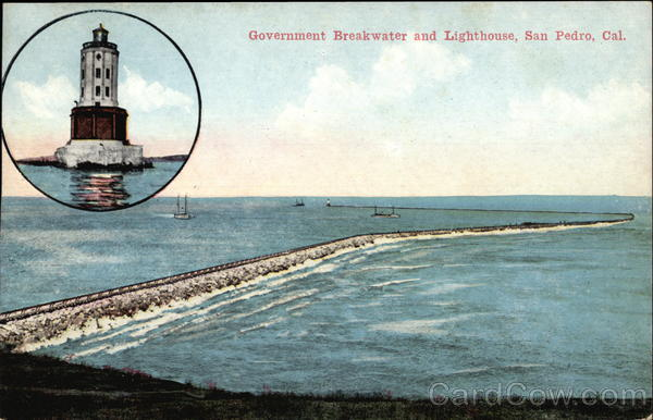 Government Breakwater and Lighthouse San Pedro California
