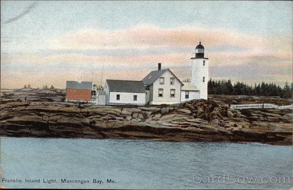 Franklin Island Light Muscongus Bay Maine