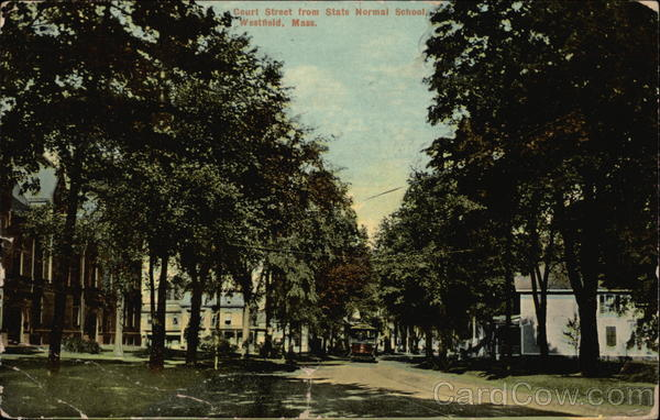 Court Street from State Normal School Westfield Massachusetts