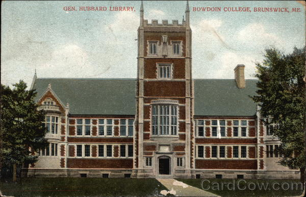 General Hubbard Library at Bowdoin College Brunswick Maine