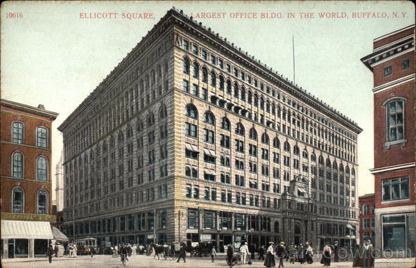 Ellicott Square, Largets Office Building in the World Buffalo New York
