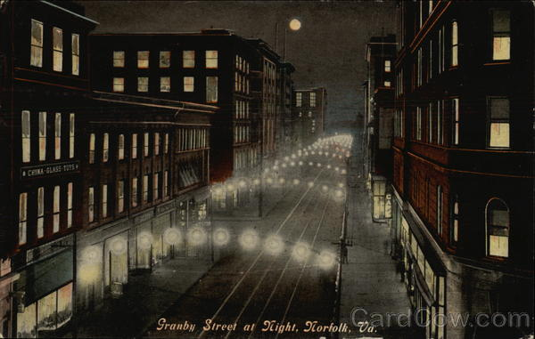 Granby Street at Night Norfolk Virginia