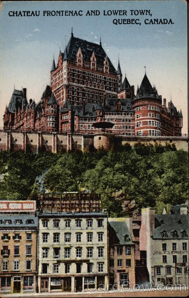 Chateau Frontenac and Lower Town Quebec Canada