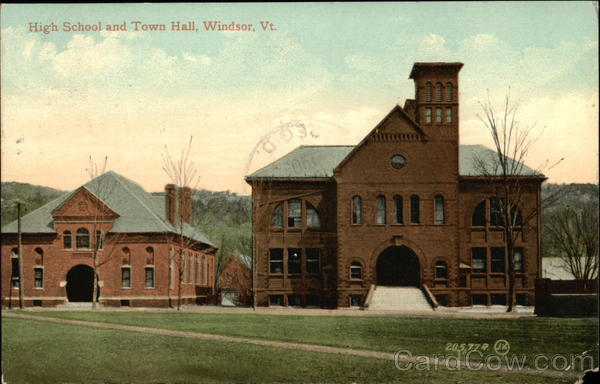 High School and Town Hall Windsor Vermont