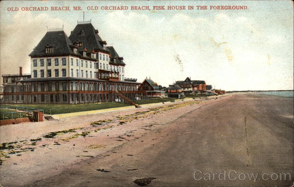 Old Orchard Beach, Fisk House in the Foreground Maine