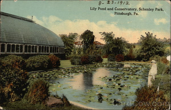Schenley Park - Lily Pond and Conservatory Pittsburgh Pennsylvania