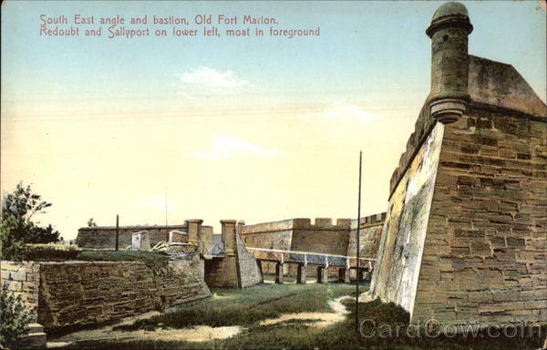 South East Angle and Bastion, Old Fort Marion