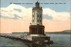 Breakwater and Lighthouse in Los Angeles Harbor
