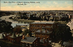Bird's Eye View of Ghent, Showing Mobray Arch