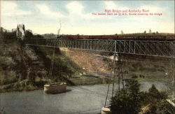 High Bridge and Kentucky River - Fastest Train on Q & C Route crossing Bridge