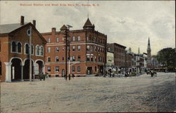 Railroad Station and West Side Main St
