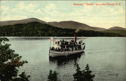 "Steamer ""Doris"" on Lake Placid"