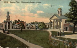 Monument Square in 1850