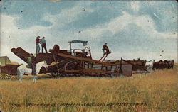 Ranching in California - Combined Harvester at Work