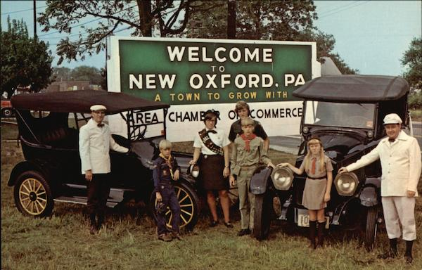 A Town to Grow With - Scouts, Guides and Vintage Cars New Oxford Pennsylvania