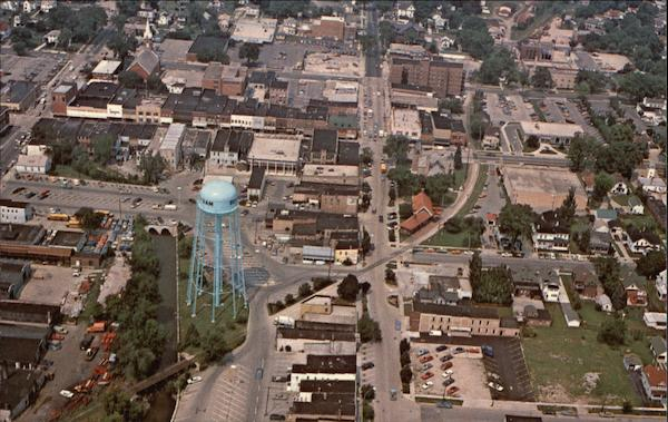 Aerial View of City Beaver Dam Wisconsin